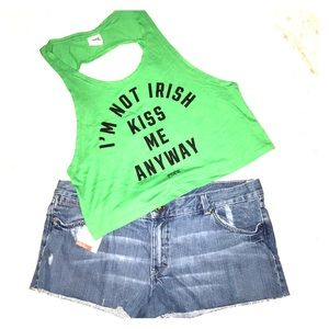 Pink Victoria's Secret green St Paddy's Day Tank S